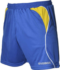 Engage Premium Kids' Football Shorts Royal/Yellow/White (Fast Delivery)