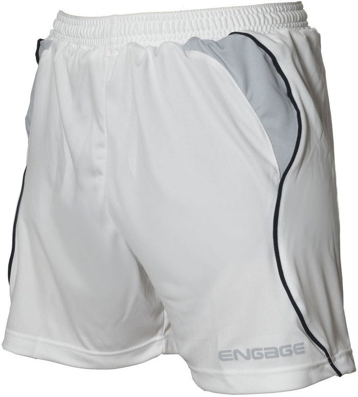 Engage Premium Football Shorts White/Silver/Black (Fast Delivery)