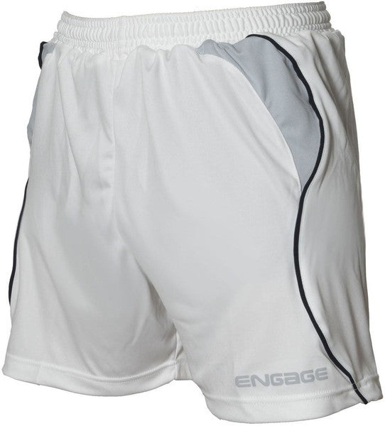 Engage Premium Kids' Football Shorts White/Silver/Black (Fast Delivery)