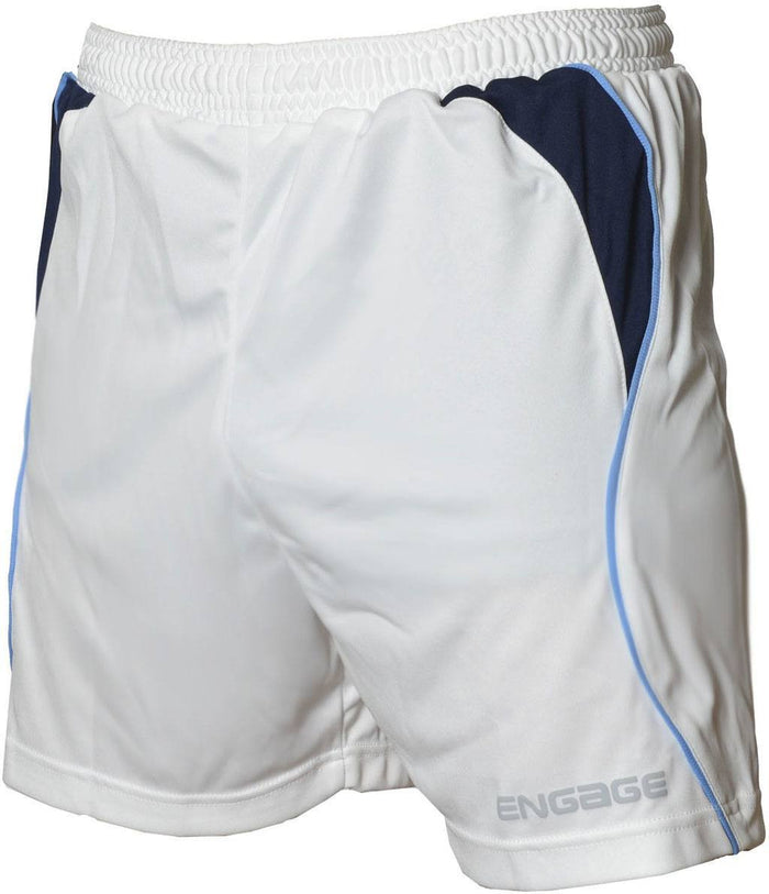 Engage Premium Football Shorts White/Navy/Sky (Fast Delivery)