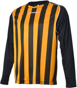 Engage Pro-Stripe Football Shirt Amber/Black/White (Fast Delivery)