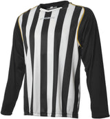 Engage Pro-Stripe Football Shirt Black/White/Bronze (Fast Delivery)