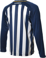 Engage Pro-Stripe Kids' Football Shirt Navy/White/Bronze (Fast Delivery)