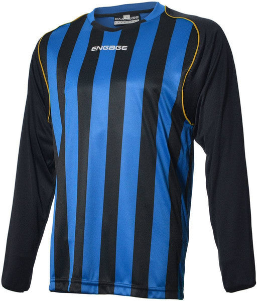 Engage Pro-Stripe Kids' Football Shirt  Royal/Black/Bronze (Fast Delivery)