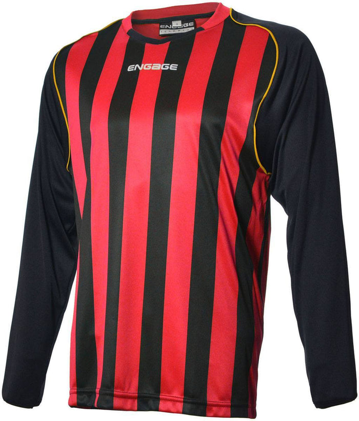 Engage Pro-Stripe Red/Black/Bronze Football Shirt  (Fast Delivery)