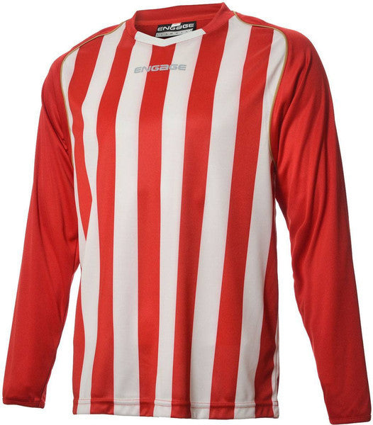 premium selection e9785 26e2b Engage Pro-Stripe Kids' Football Shirt Red/White/Bronze (Fast Delivery)