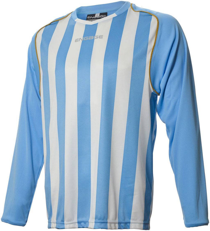 Engage Pro-Stripe Sky/White/Bronze Football Shirt  (Fast Delivery)