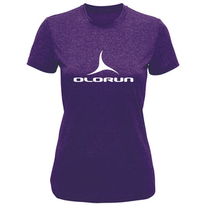Olorun Activ Ladies Preformance T-Shirt - Purple Melange