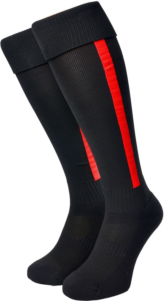 Olorun Euro Striped Socks Black/Red (Fast Delivery)