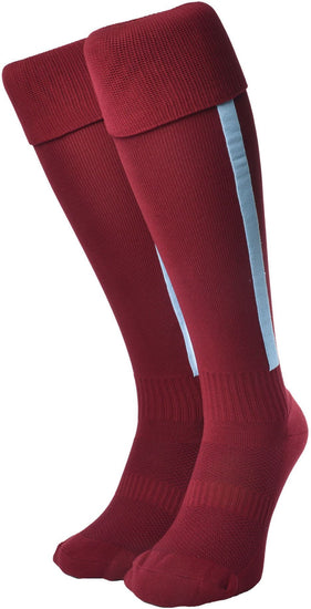 Olorun Euro Striped Socks Burgundy/Sky (Fast Delivery)