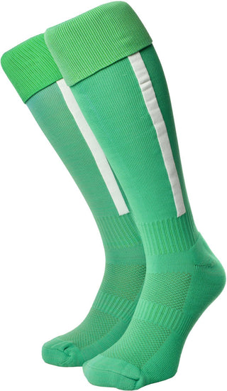 Olorun Euro Striped Socks Emerald/White (Fast Delivery)