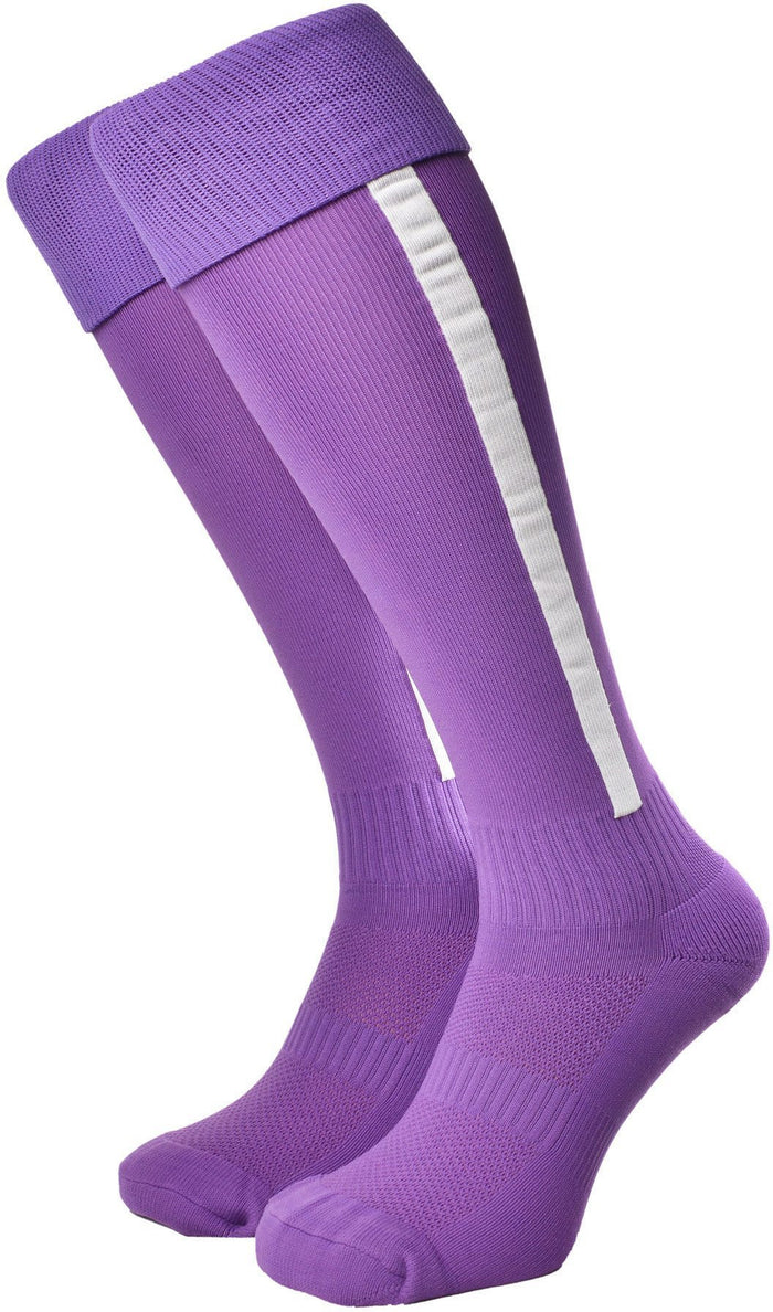 Olorun Euro Striped Socks Purple/White (Fast Delivery)
