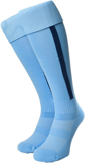 Olorun Euro Striped Socks Sky/Navy (Fast Delivery)