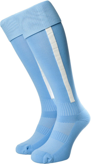 Olorun Euro Striped Socks Sky/White (Fast Delivery)