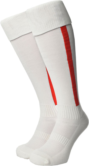 Olorun Euro Striped Socks White/Red (Fast Delivery)