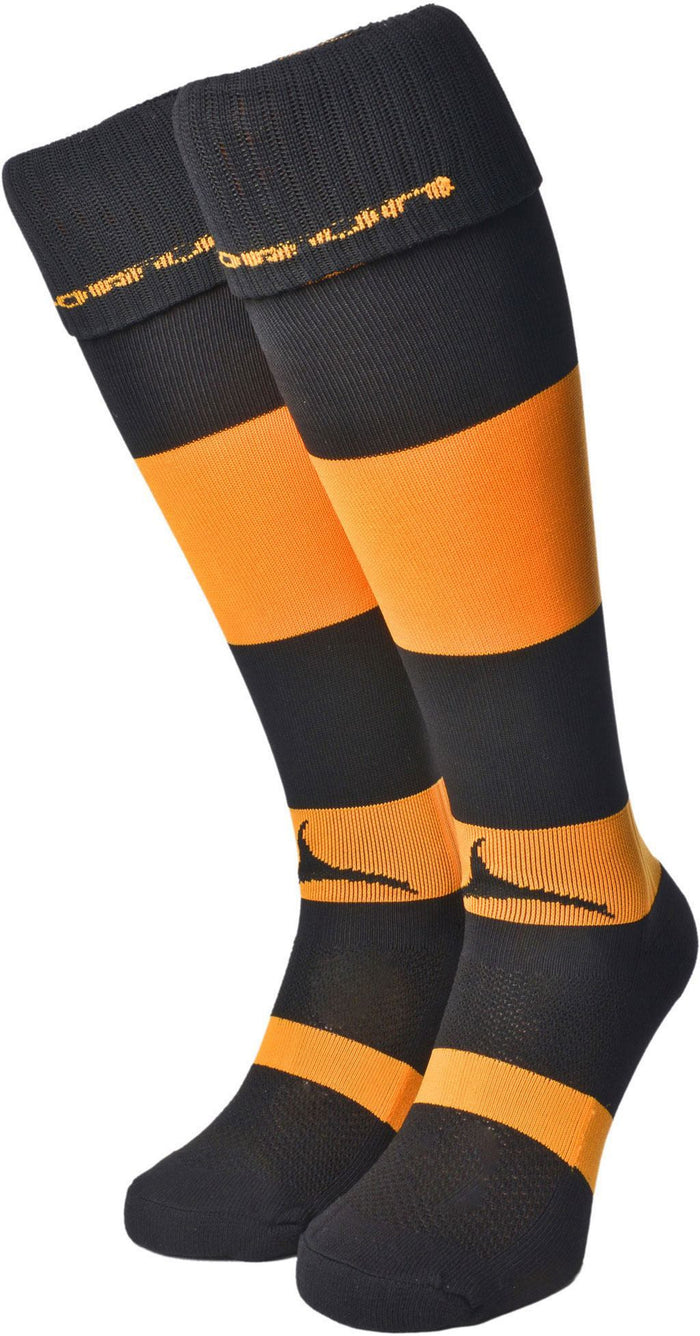 Olorun Hooped Socks Black/Amber (Fast Delivery)