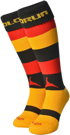 Olorun Hooped Socks Black/Red/Amber (Fast Delivery)