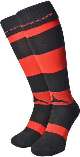 Olorun Hooped Socks Black/Red (Fast Delivery)