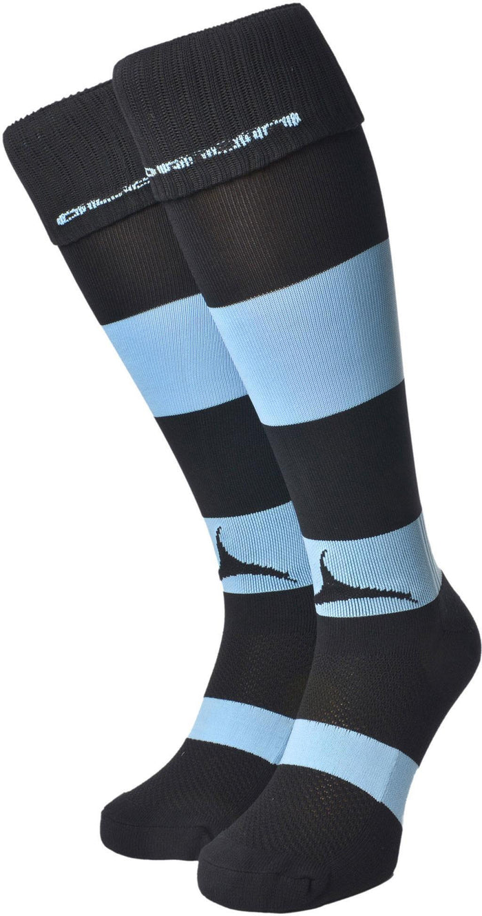 Olorun Hooped Socks Black/Sky (Fast Delivery)