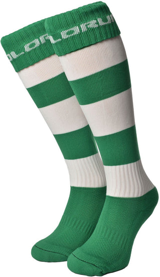 Olorun Hooped Socks Emerald/White (Fast Delivery)