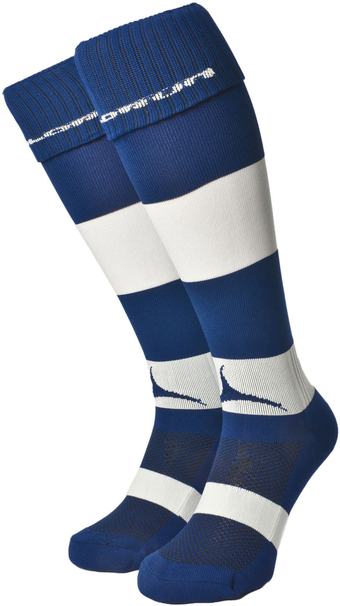 Olorun Hooped Socks Navy/White (Fast Delivery)