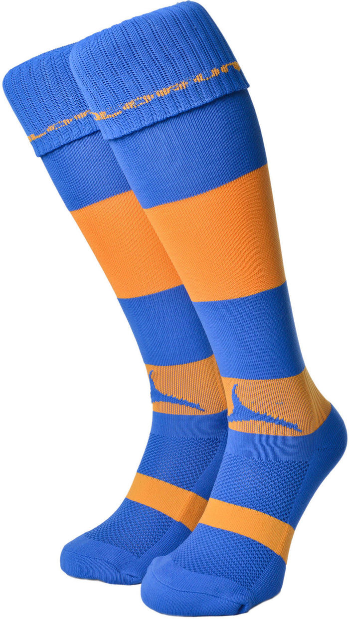 Olorun Hooped Socks Royal/Amber (Fast Delivery)