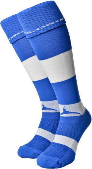 Olorun Hooped Socks Royal/White (Fast Delivery)