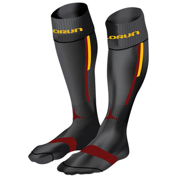 Hampstead RFC Elite Socks Black/Burgundy/Amber