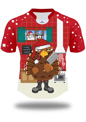 Turkey Dinner Olorun Christmas Rugby Shirt