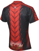 Olorun Dark Dragon Mens Wales Rugby Shirt Home Colours (Fast Delivery)