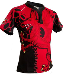 Olorun Dark Venom Wales Rugby Shirt (Fast Delivery)