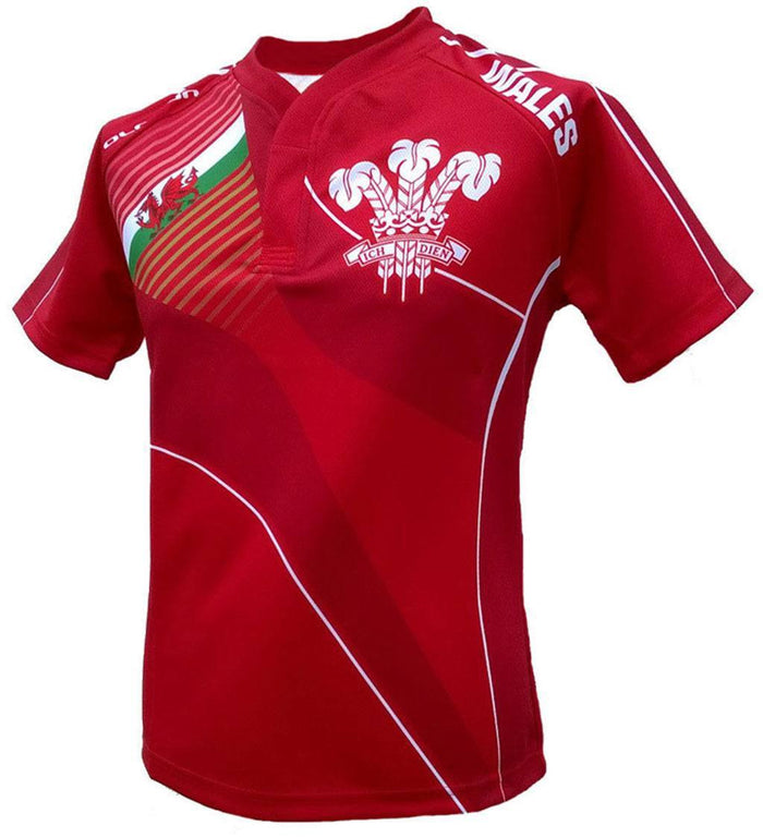 Olorun Home Nations Wales Rugby Shirt (Fast Delivery)