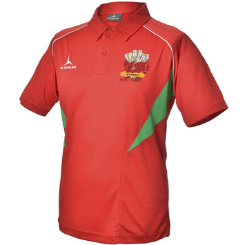 Olorun Flux Wales Rugby Polo Shirt Home Colours (Fast Delivery)