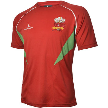 Olorun Flux Wales Rugby T Shirt Home Colours (Fast Delivery)