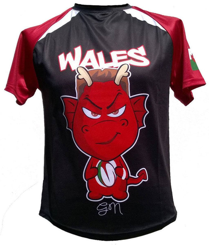 Olorun Kids' Mini Dragon Wales Rugby Shirt North (Fast Delivery)