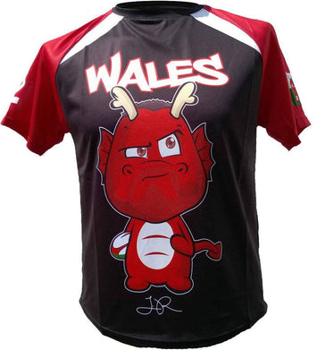 Olorun Kids' Mini Dragon Wales Rugby Shirt Roberts (Fast Delivery)
