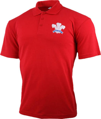 Olorun Classic Wales Rugby Polo Shirt (Fast Delivery)