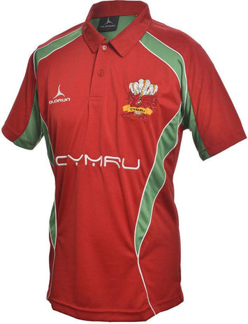 Olorun Wales Rugby Polo Shirt Home