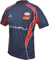 Olorun Wales Rugby T Shirt Blue Away Colours (Fast Delivery)