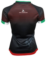 Women's Olorun Wales Contour Home Nations Rugby Shirt (Away - Black Design)