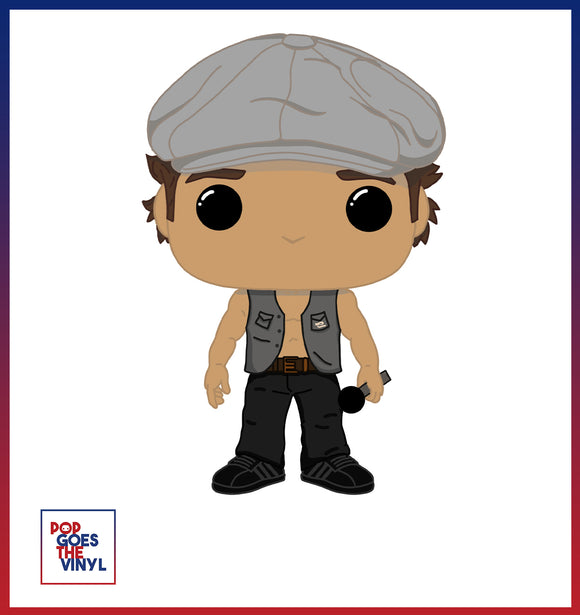 Brian Johnson ACDC Custom Pop