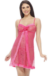 """Pink Ruffled"" Naughty Secrets Babydoll Set - Meet Desires"
