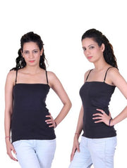Beautiful Black Pack Of 2 Ladies Camisoles - Meet Desires