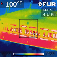 FLIR image of a Black Dog LED Plant Light