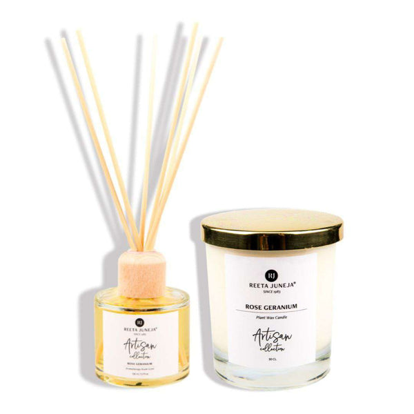 Aromatic Home: Rose Geranium Luxury Room Candle and Spray