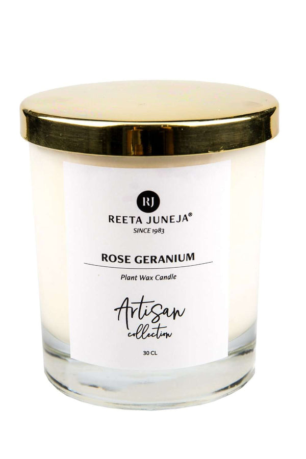 Artisan Collection: Rose Geranium Room Candle