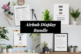 Airbnb Display Bundle | WiFi Poster | Cleaning Checklist | Checkout Checklist | Airbnb Instagram Dislpay