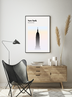 New York // Minimalist Art Print // Full Color Abstract Travel Poster