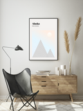 Alaska // Minimalist Art Print // Abstract Travel Poster