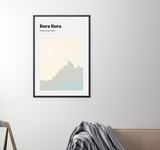 Bora Bora // Minimalist Art Print // Abstract Travel Poster